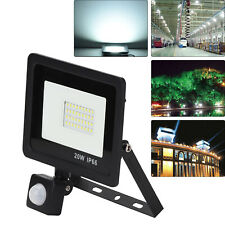 PIR Sensor LED Energy Saving Flood Light Outdoor Security 20W Slimline UK