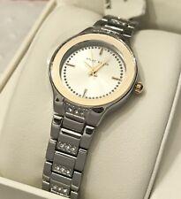 ANNE KLEIN AK/2461SVTT New Silver-Tone Two Tone Dial Women's Bracelet Watch