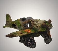 Aquarium Deko 🍀 FLUGZEUG WRACK STUKA🍀 Propellermaschine Dekoration Zubehör (VO