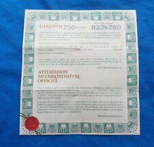 ROLEX Datejust 79174 Warranty Certificate Garantie Guarantee 2005 Papers