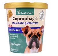 NEW NATURVET COPROPHAGIA STOOL EATING DETERRENT PLUS BREATH AID PET SUPPLEMENT