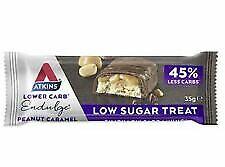 Atkins Endulge Peanut Caramel Low Carb and Sugar Snack Bar 10 x 35g (luc)