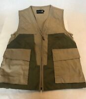 Like New Browning Hunting Shooting Vest Made in USA khaki green size small