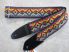 JODI HEAD Handmade Woven Guitar Strap / HOOTENANNY #7 Navajo Multicolor Bold