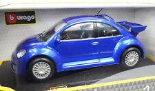VW New Beetle RSI bleu échelle 1:24 par bburago