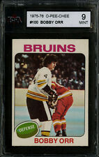 1975-76~O-PEE-CHEE HOCKEY~#100~BOBBY ORR~HALL OF FAME~BOSTON BRUINS~KSA 9 MINT