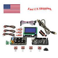RAMPS 1.4 3D PRINTER CONTROLLER Kit w/ Mega 2560 & LCD smart controller 5x A4988