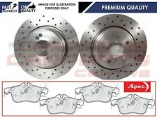 FOR VAUXHALL CORSA E 1.6 VXR 2015- FRONT DRILLED BRAKE PADS OE DISCS 308mm