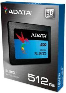 """ADATA 512GB SSD SU800 2.5"""" SATA III 3D NAND Internal Solid State Drive 500GB"""