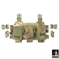 DMgear Tactical Triple Mag Pouch w/ Buckles for Chest Rig 556 Mag Carrier Panel