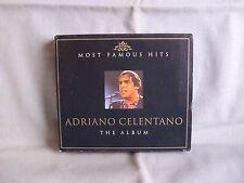 Adriano CELENTANO-THE ALBUM-MOST FAMOUS HITS - 2 CD M. 32 titolo come nuovo-leggere