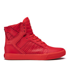 NEW SUPRA SKYTOP RED SKATE MX SNOW SURF RAP SKATEBOARD HIP HOP SPORTS SHOES 8.5