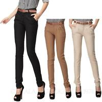 Ladies trousers Womens Cargo Vintage Pencil Straight Leg Fitted Pants Size kala