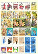 AUSTRALIA ALBUM PAGE OF 36 SOUND USED STAMPS; 4 Cents - $1.00.