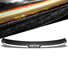 TPE Black Chrome Trim Rear Bumper Cover Pad Protector Plate For Honda 12-16 CRV