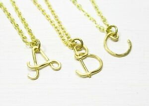 Halskette INITIAL Kette mit Buchstabe Alphabet personalisierbar 100% Handarbeit