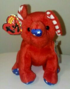 Ty Beanie Baby BB 2.0 - RIGHTY (2008) the Elephant (7 Inch) MINT with MINT TAGS