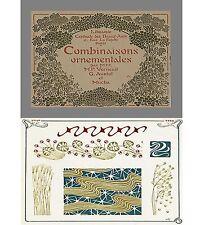 Alphonse Mucha 1901 60 Art Nouveau COMBINAISONS ORNEMENTALES CD Full Page Prints