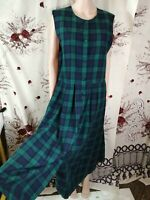 vintage Laura Ashley check sleeveless button Down dress size 14UK/40EU/10US m1