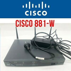 Cisco CISCO 881-W Wireless secure Router With power supply 4 CCNA CCNP