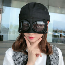 Unisex Aviator Goggles Hat Outdoor Sun Protective Baseball Cap with Eyewear