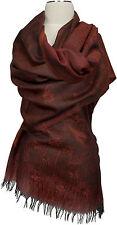 Pashmina Schal Wolle Modal scarf stole écharpe foulard  Bordeaux Braun Floral