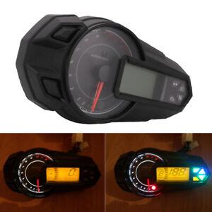Multifunction Motorcycle LCD Digital Gauge Speedo Tacho Odo Meter Kmh Indicator
