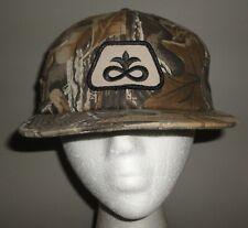 Vintage PIONEER SEED Woods Tree Leaf Camo K PRODUCTS Patch Snapback Hat