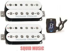 Seymour Duncan SH-4 JB & SH-2 Jazz Hot Rodded White Set ( FREE GUITAR TUNER )
