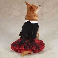 Tartan Holiday Velvet Dog Dress