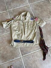 Boy Scouts Webelos Uniform Belt And Bandana