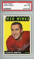 1965-66 Topps #109 Floyd Smith PSA 8 NM-MT Detroit Red Wings