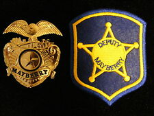 FREE PATCH WITH  Barney Fife Mayberry Cap Badge prop Andy Griffith Don Knotts