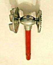 """Meat Tenderizer kitchen tool Double Sided with wood handle Vintage Gadget 9"""""""