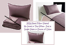 "IKEA Karit""Lilac""NEW Pillow SHAM Wine Dusty Purple Plum Channel Quilted Orchid"