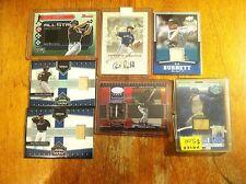 Toronto Blue Jays baseball card lot Orlando Hudson A. J. Burnett game worn auto