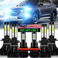For Hyundai Tucson 2016 2017 2018 Combo LED Headlight High/Low Beam Fog Light