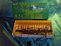 Vntage Weihnachtsbaumbeleuchtung alte Lichterkette 15 Kerzen weiß Philips