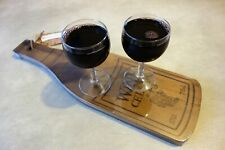 Fine Wine Acacia Hardwood Paddle, Cutting and Serving Board Sharing Platter