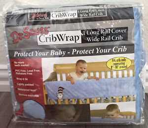 """Rare Trend Lab Dr. Suess Minky Stars Crib Rail Cover for Long Rail up to 18"""" R5"""
