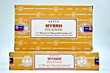 BEST NAG CHAMPA MYRRH Satya dhoop Incense Fragrance Sticks Yoga Agarbatti 12Pk
