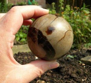 """SEPTARIAN (Septerye) Sphere 428g Dragonstone Crystal Ball Orb 67mm (2.64"""") S0114"""