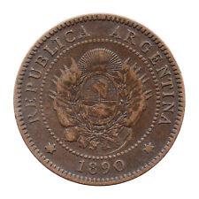 KM# 32 - Un Centavo - Argentina 1890 (F)