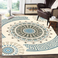 Traditional Medallion Area Rug Non-slip Carpet Dining Room Bohemian Floor Mat