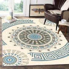 Traditional Medallion Area Rug Non-slip Carpet Dining Room Bohemian Floor Mat