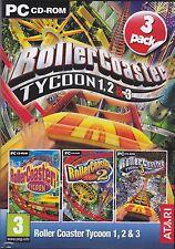 PC juego de ordenador * Roller Coaster Tycoon box 1-3 * 1 + 2 + 3 Rollercoaster * nuevo