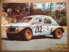 Poster Renault 4CV proto course de côte rallye 1972 sport automobile