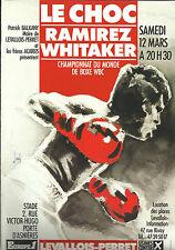 "1988 JOSE LUIS RAMIREZ vs Pernell ""Sweet Pea"" Whitaker [I] le titre mondial programme"