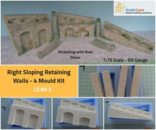 Model Railway Retaining Walls RIGHT SLOPING WALLING KIT - OO Scale LS K03