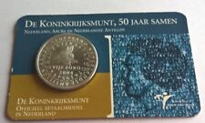 Niederlande / Holland 5 Euro 2004 Coincard De Koninkrijksmunt, 50 jaar samen